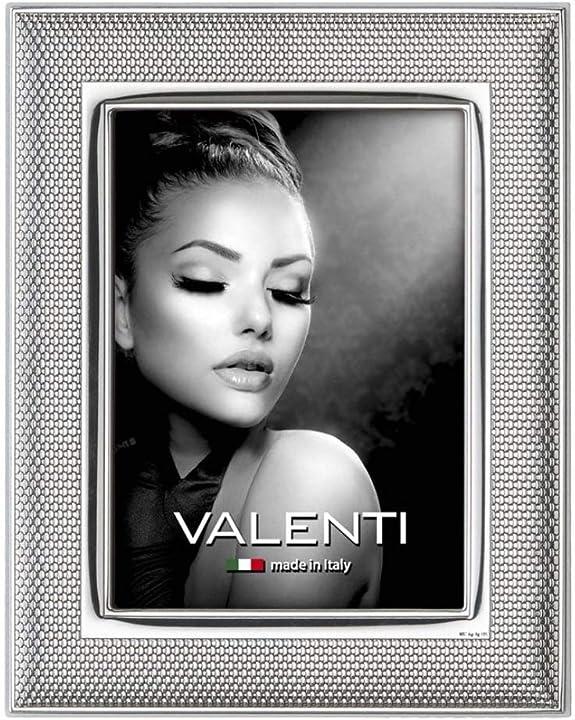 Cornice portafoto maglia milano in argento pvd adatta a foto cm 13 x 18 valenti argenti 52075 4L