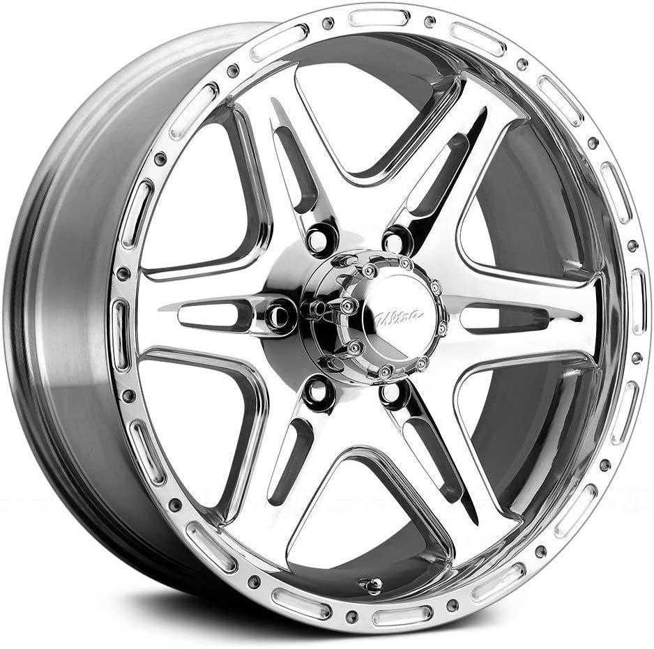 17x9//6x5.5mm, +0 mm offset Ultra Wheel 208P Badlands Silver Wheel with Polished Finish