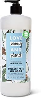 Love Beauty And Planet Volume and Bounty Thickening Shampoo For Fine Hair Coconut Water & Mimosa Flower Sulfate-Free, Para...