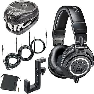 Audio-Technica ATH-M50x Monitor Headphones (Black) (w/Hard Case)