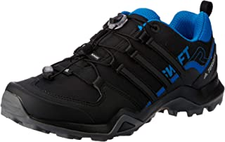 adidas, Terrex Swift R2 Hikings Shoes, Men's Shoes, Black/Black/Bright Blue, 12.5 US
