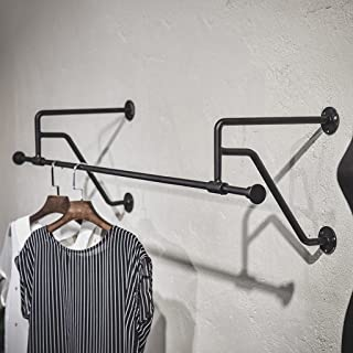 Li@ Iron Hook Wall-Mounted Coat Rack Vintage Plumbing Wall Rack Combination Clothes Shoes Hangers Solid and Durable/Not Rusty/Easy to Clean Living/Bedroom/Study/Bar (1203133cm)