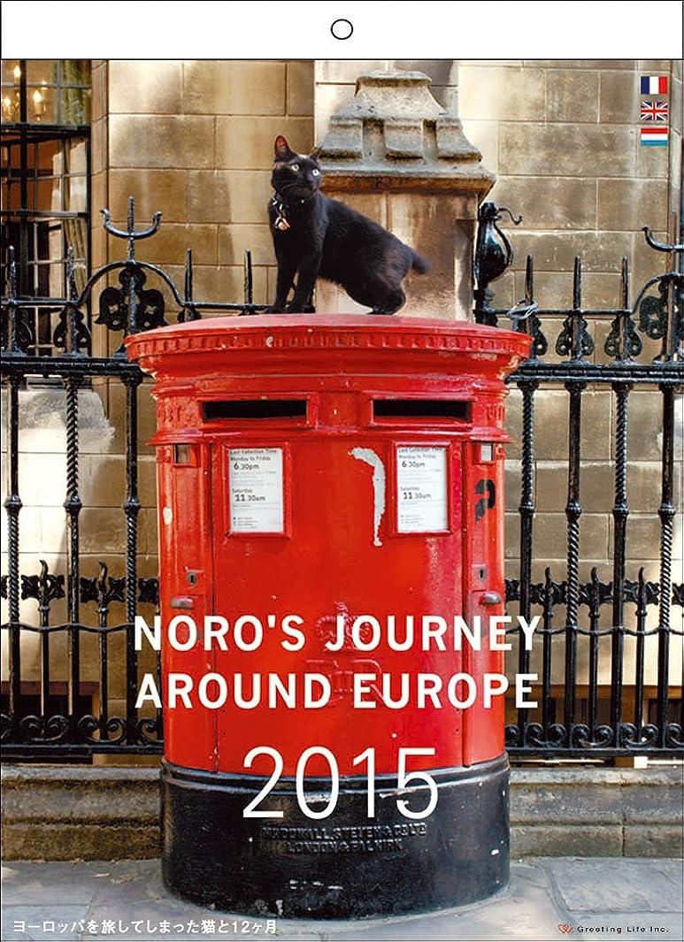 病的遠征施設2015 ヨーロッパを旅してしまった猫と12ヵ月 壁掛カレンダー C-658-NH