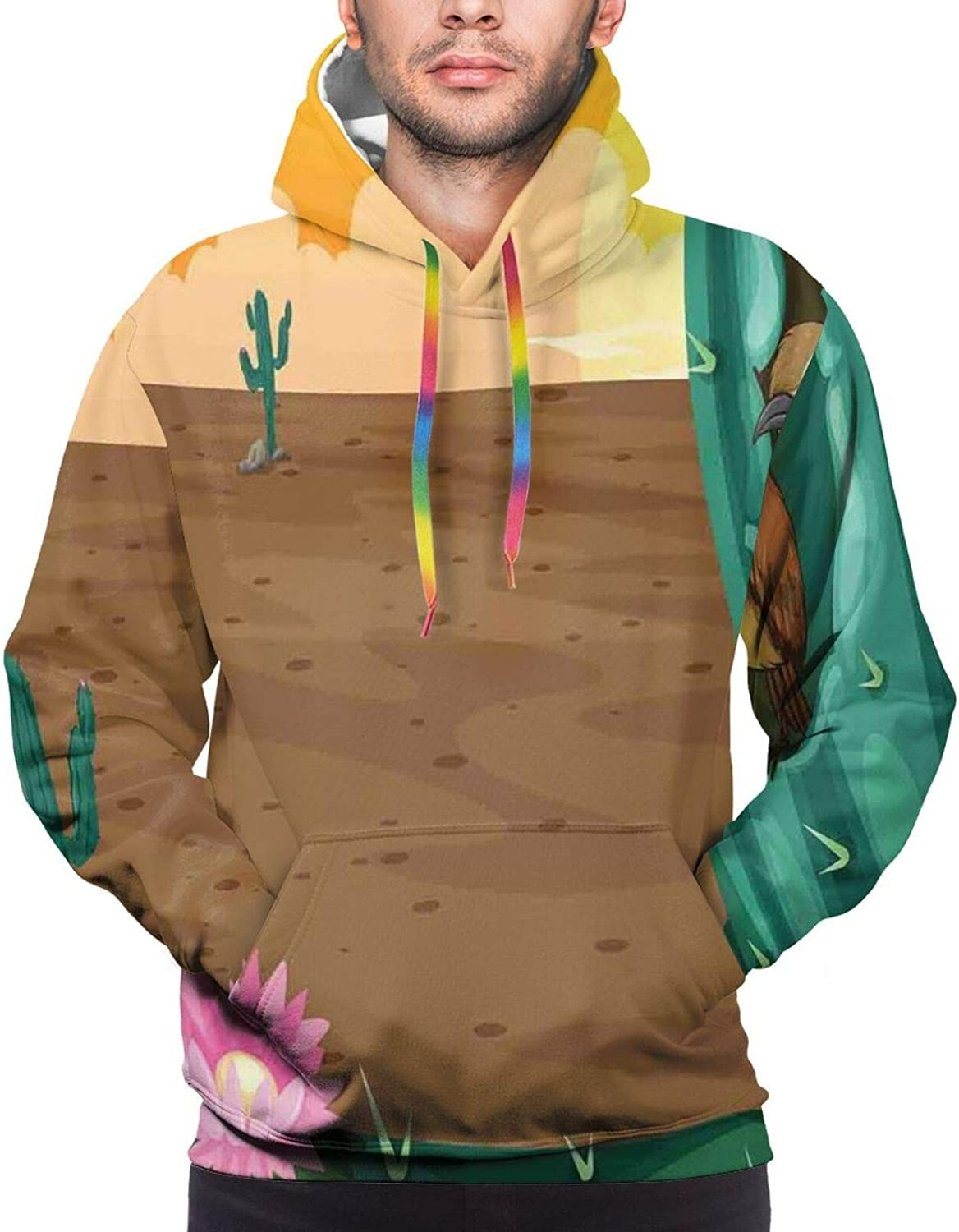 Men's Hoodies Sweatshirts,Denim Style Pattern with Hearts and Geometric Motifs On Stripes Background