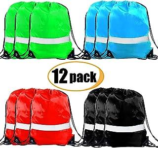 Drawstring Backpack - Drawstring Bags Reflective Cinch Sacks String Backpack Bulk Bag
