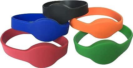 YARONGTECH 125khz RFID Wristband EM4100 black blue red green Orange Waterproof Silicone Bracelet pack of 5