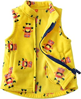 Baby Boy and Girl Fleece Zipper Embroidery Pattern Vest