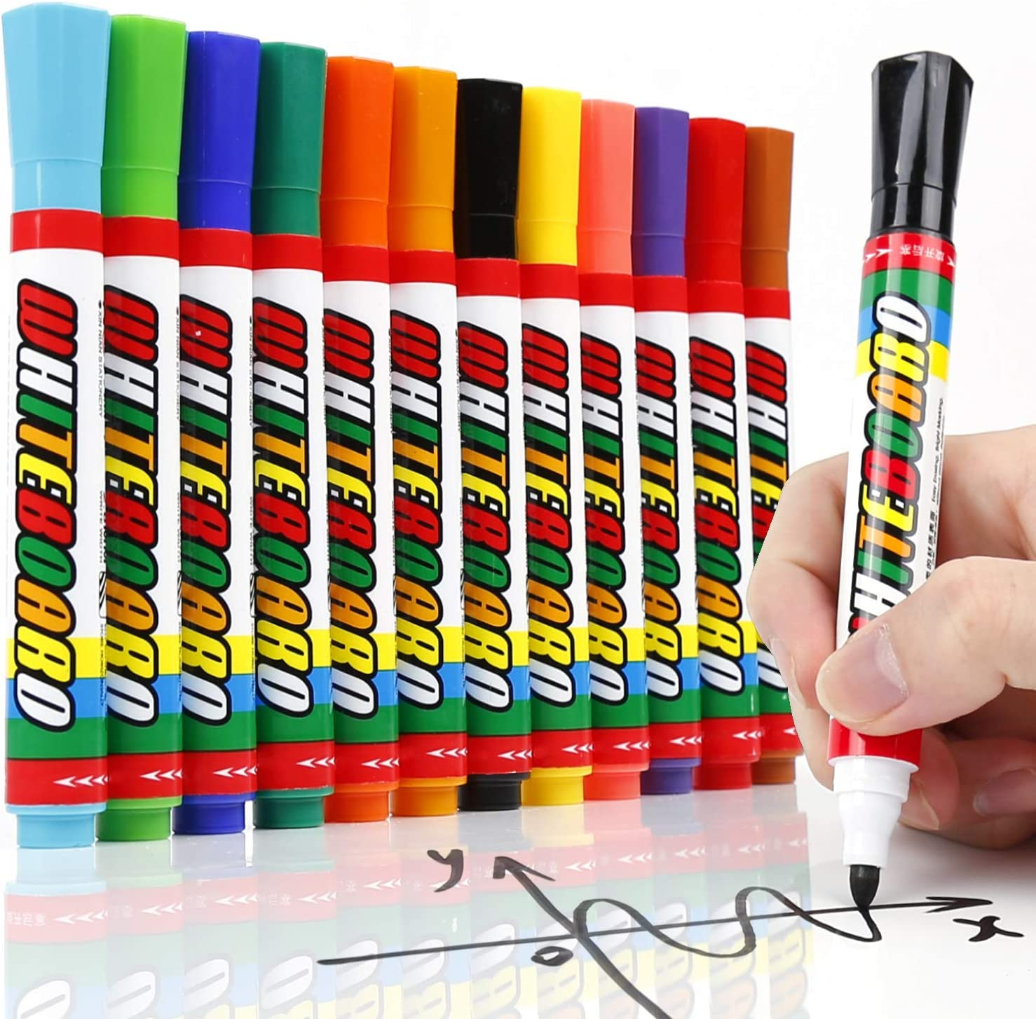 sold out Directly managed store LuluPlus Dry Erase Markers 12 for Cars pcs Wind Window