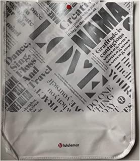 Lululemon Large Reusable Tote Carryall Gym Bag (White/Silver)