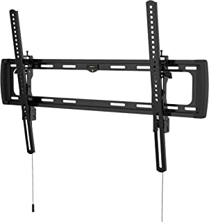 """Promounts Apex Tilt TV Wall Mount Bracket for 37-100"""" Flat/Curved TVs up to 143 lbs, VESA from 200x200 to 600x400 with Built-in Bubble Level, Post-Installation Level Adjustment, (UT-PRO640), Black"""