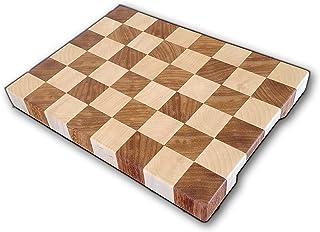 Arte del Legno, Tagliere da Cucina a scacchi in Legno Professionale, con incavi per una facile presa e gommini antiscivolo...