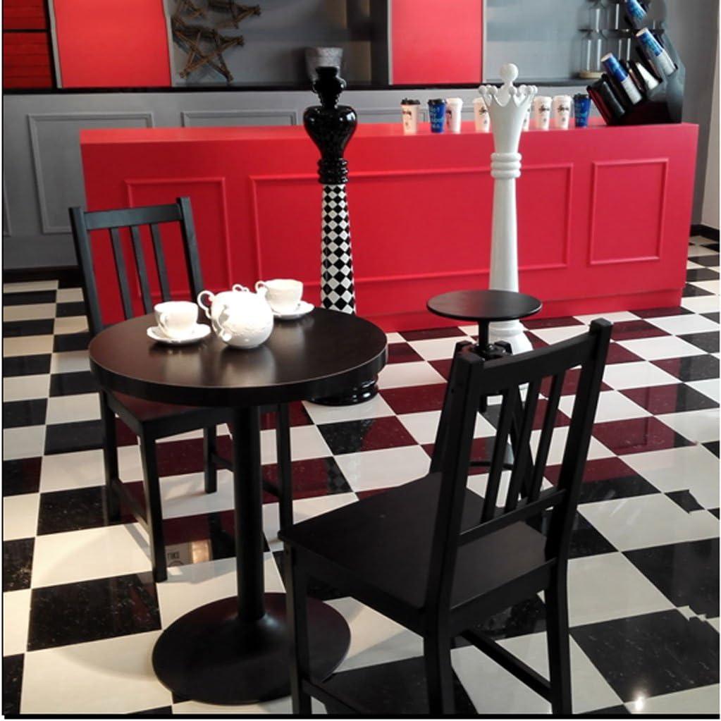XXT Moderne Simple Salle À Manger Chaise en Bois Massif Chaise Ménage Adulte Fauteuil Créativité Mode Restaurant Noir en Bois Chaise Durable (Color : B) A