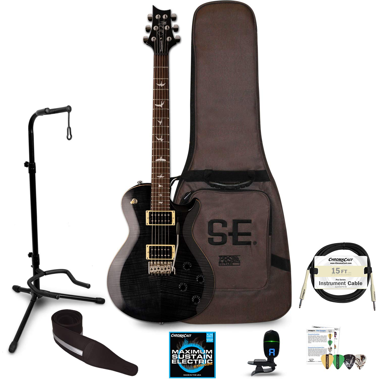 Cheap PRS SE Mark Tremonti Electric Guitar with Accessories Gray Black Black Friday & Cyber Monday 2019