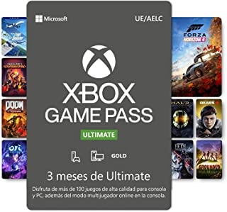 Suscripción Xbox Game Pass Ultimate - 3 Meses | Xbox/Win 10 PC - Código de descarga