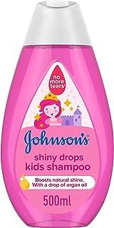 JOHNSON'S Toddler & Kids Shampoo - Shiny Drops, Formula Free of Parabens & Dyes, 500ml