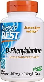 Doctor's Best D-Phenylalanine, Non-GMO, Vegan, Gluten Free, 500 mg, 60 Veggie Caps