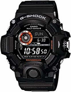 Men's GW-9400BJ-1JF G-Shock Master of G Rangeman Digital Solar Black Carbon Fiber Insert Watch