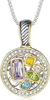 Luxury Cable Wire Pendant Box Chain Necklace Women Fashion Jewelry Multi CZ Unique Present Gifts Designer Inspired