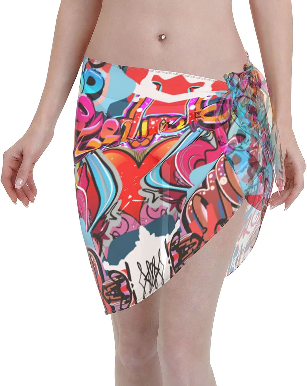 Philippine National Flag Women Short Sarongs Beach Wrap Sheer Bikini Wraps Chiffon Cover Ups for Swimwear
