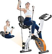 دوچرخه حرکتی تاشو دوچرخه ثابت تاشو خانه ثابت قایق دوچرخه تناسب اندام با مقاومت مغناطیسی ، مانیتور ضربان قلب ، دمبل ، بندهای مقاوم در برابر بازو ، پشتی راحت