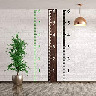 6 Feet Height Growth Chart Stencil Kids Reusable Ruler Template Painting on Wood DIY French Country Home Decor Rustic Decor for Farmhouse Measuring Kids Height Wall Décor 12 x 7 Inches