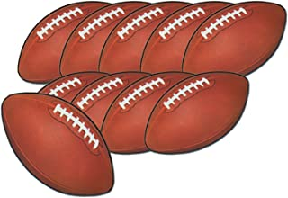Mini Football Cutouts 4½in. 10/pkg, Pkg/3