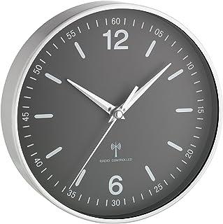 TFA Dostmann 60.3503 Horloge Murale analogique Radio (Gris avec Batterie)