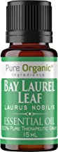 Bay Laurel Leaf Essential Oil (15 ml) by Pure Organic Ingredients, Cleanses Naturally, Nourishes Hair & Scalp, Soothes Muscles & Joints, Woodsy Aroma with A Hint of Sweetness & Cloves