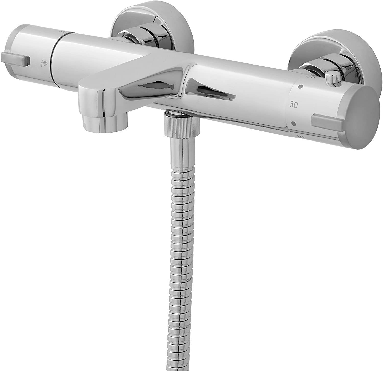 Ultra VBS021 Thermostatic Bath Shower Mixer without Shower Kit - Chrome
