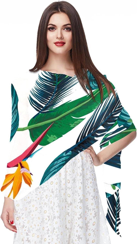 Scarfs for Women Lightweight Fashion Scarves Print Floral Pattern Scarf Shawl Wraps, Palm Tree