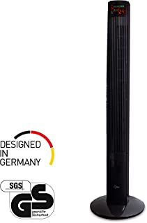 SUNTEC ventilador de torre CoolBreeze 12.000 TV [118 cm altura, 3 velocidades + 2 tipos de aire, oscilante, mando a distancia, 50 W]