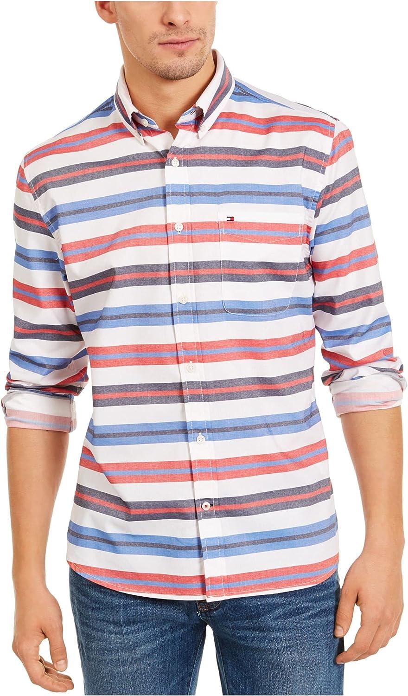 Tommy Hilfiger Mens Red Stretch Dress Shirt XXL