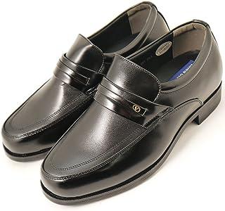シークレットシューズ 5cmアップ ビジネスシューズ 紳士靴 カンガルー革 本革 メンズシューズ 背が高くなる靴 背が高くなるビジネスシューズ 201blk