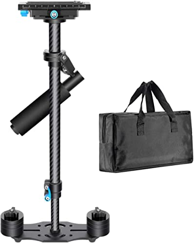 Neewer Carbon Fiber 24 inches/60 Centimeters Handheld Stabilizer with 1/4 3/8 inch Screw Quick Shoe Plate for Canon N...