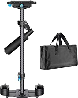 Neewer Carbon Fiber 24 inches/60 Centimeters Handheld Stabilizer with 1/4 3/8 inch Screw Quick Shoe Plate for Canon Nikon ...