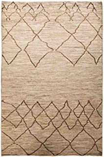 Solo Rugs Moroccan Atlas One of a Kind Hand Knotted Area Rug, Brown, 5' 4