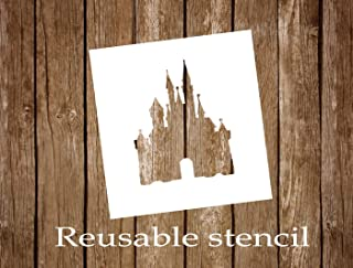 Reusable Disney Castle Stencil
