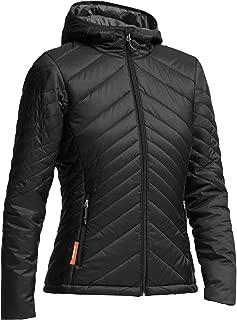 Women's Stratus Zip Hooded Jacket, Merino Wool, Monsoon/Black, Medium