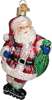 Old World Christmas Rollerblading Santa Glass Blown Ornament