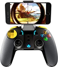 Mobile Game Controller,Wireless Bluetooth Gamepad Joystick Multimedia Game Controller for PUBG Compatible iPhone8/XR/XS for Android Mobile Phone Tablet - iPega PG-9118