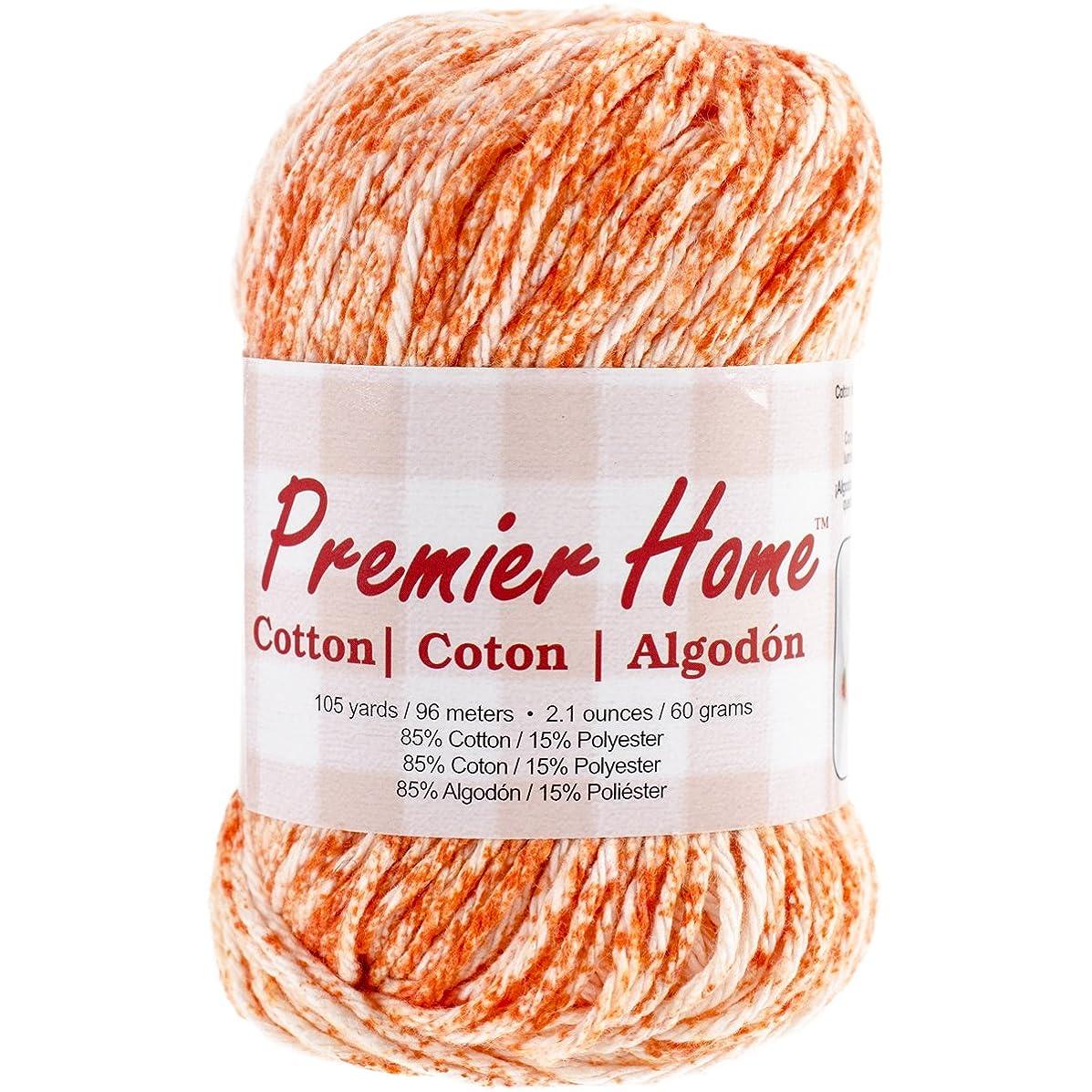 Premier Yarns Home Cotton Yarn, Tangerine Splash
