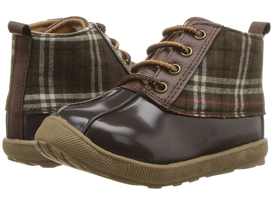 Baby Deer First Steps Duck Boot (Infant/Toddler) (Brown Plaid) Boy