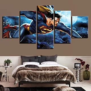WLHWLH 5 Pieces Canvas Painting Modern Wall Art Painting Stretched&Framed Artwork Living Room Decor Visual,Animal Pictures...