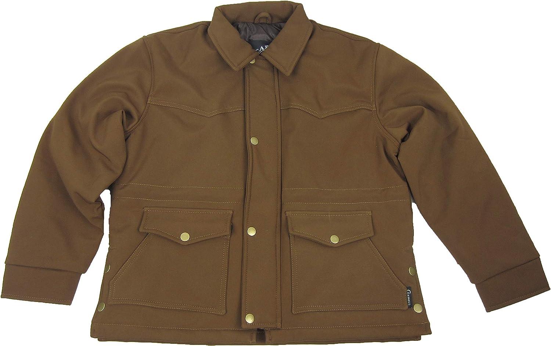 Carroll Original Wear Men's Soft Shell Jacket, Barn Style Brown COW5423