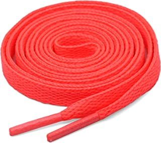 2 Pair 5/16 inches Wide Flat Athletic Shoe Laces for Sports Shoes