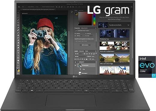 """LG Gram 17Z90P, Display 17"""" Quad HD 16:10 IPS, 2560x1600, Intel Core i7-1165G7, RAM 16GB DDR4, SSD 512GB, Intel Iris Xe, Batteria 80Wh, Thunderbolt4, Win10 PRO, Tastiera Italiana, Peso 1350g, Black"""