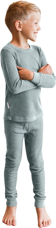 POPINJAY Bamboo Long John Set Boys or Girls Thermal Underwear Pajamas for Kids