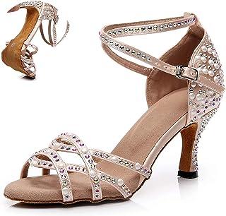 Dames Rhinestone Latin Dansschoenen Ballroom Tango Dansende Schoenen Kids Latino Salsa Bachata Dansschoenen Vrouw Custom H...