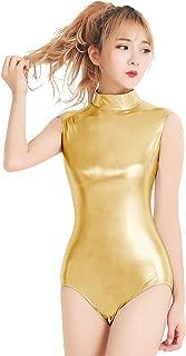 Speerise Adult Shiny Metallic One Pieces Turtleneck Dance Leotard Bodysuit Costume