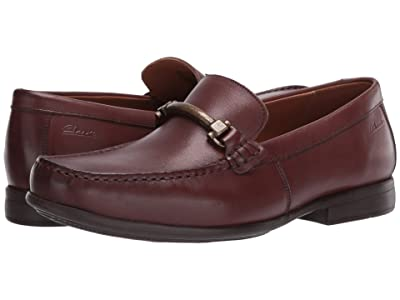 Clarks Claude Stride (Mahogany Leather) Men